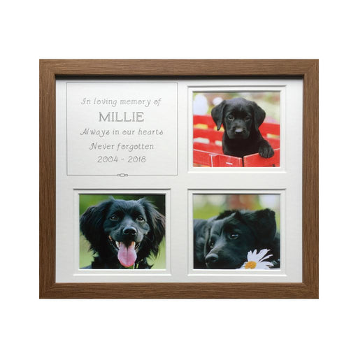 Pet Memory Oak Frame - White inner