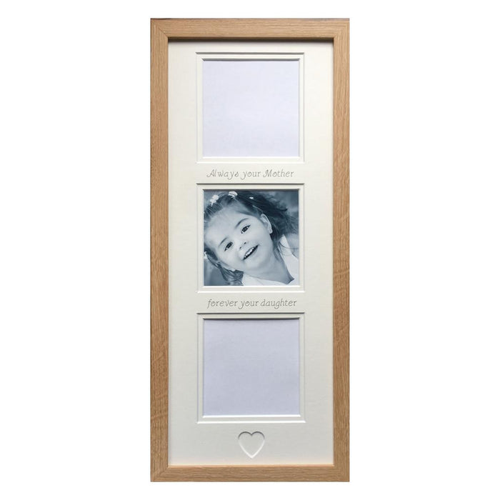 Always Your Mother Forever Your Daughter Collage Picture Frame Beech