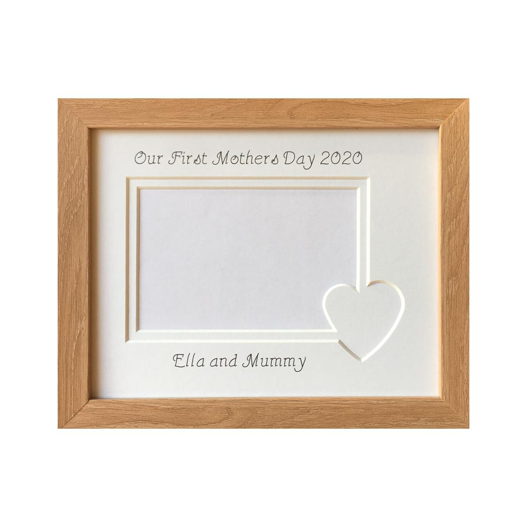 First Mothers Day Personalised Photo Frame - white