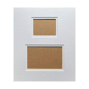 Pre-Cut Ready Mount 2 Picture Slots 12 x 10