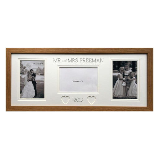 Mr & Mrs Collage Personalised Picture Frame