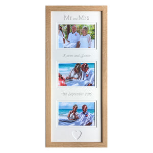 Mr and Mrs Photo Frame 20 x 8 Beech