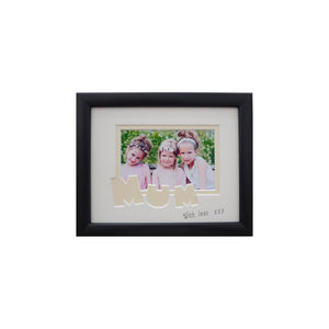 Mum photo frame 9x 7 black