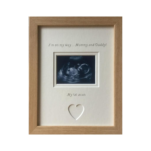 On my way Mummy and Daddy 1st Scan Photo Frame 9 x 7