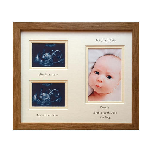Double Baby Scan Unisex Picture Frame