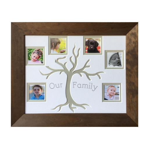 Olive/grey tree family frame