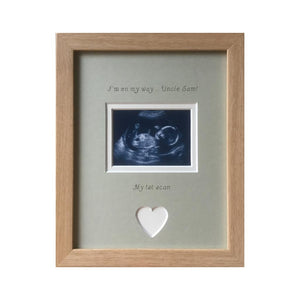 On My Way Uncle 1st Scan Photo Frame