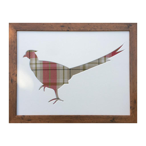 Pheasant picture frame - Berridale Red