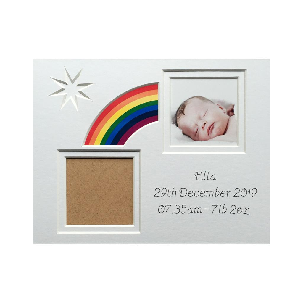 Rainbow Baby Photo Mount