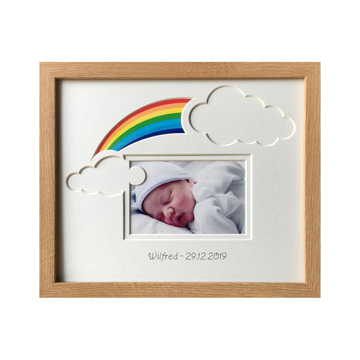 Rainbow Baby Clouds Photo Frame