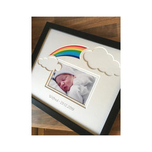 Rainbow Baby Personalised Picture Frame