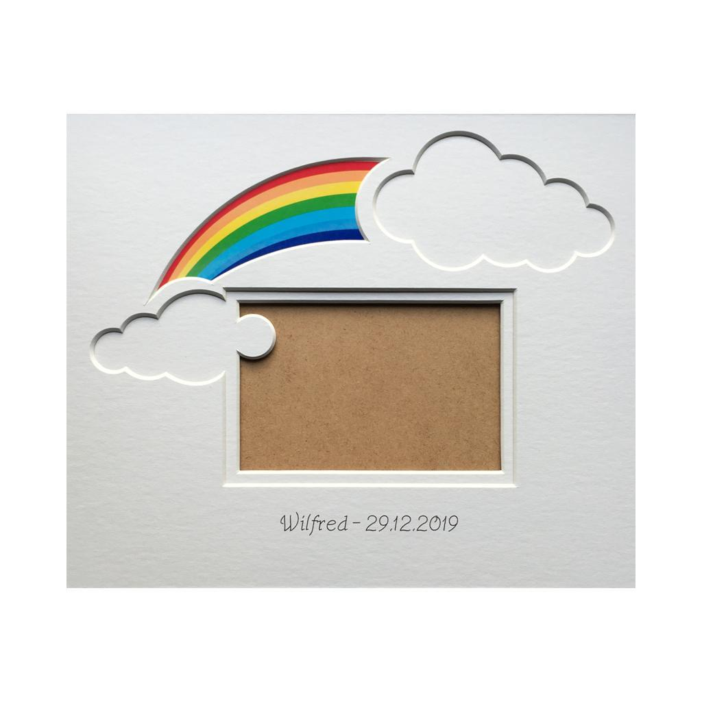 Rainbow Baby Clouds Photo Mount