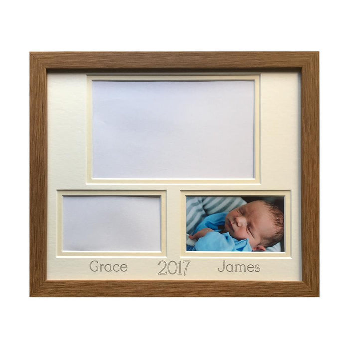 Siblings, Twins, Cousins Picture Frame Oak
