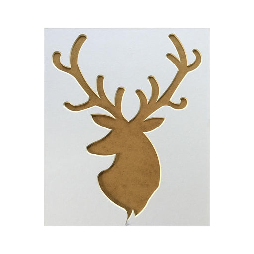 Stag head picture mount