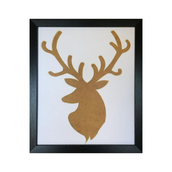 Silhouette stag head picture frame