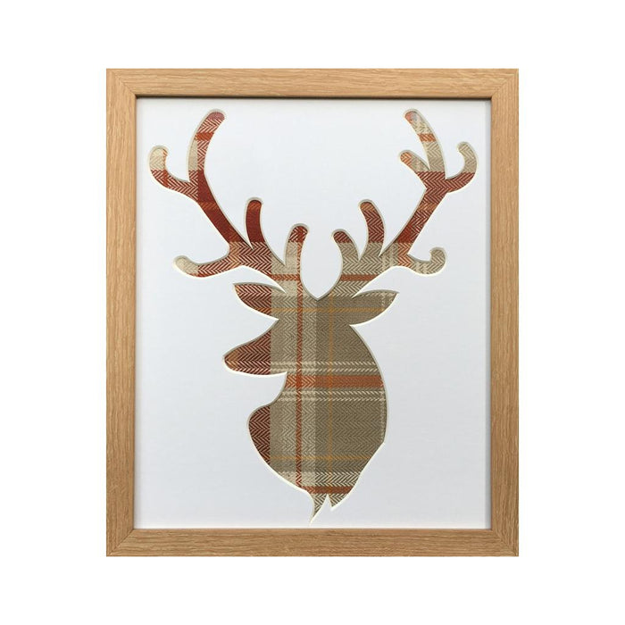Stag Picture - Terracotta Fabric