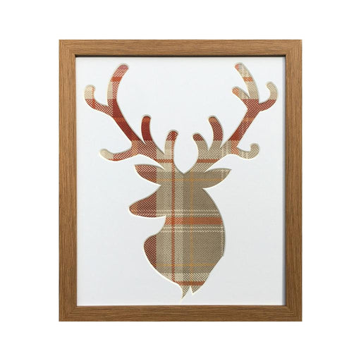 Stag Head Picture Oak Frame