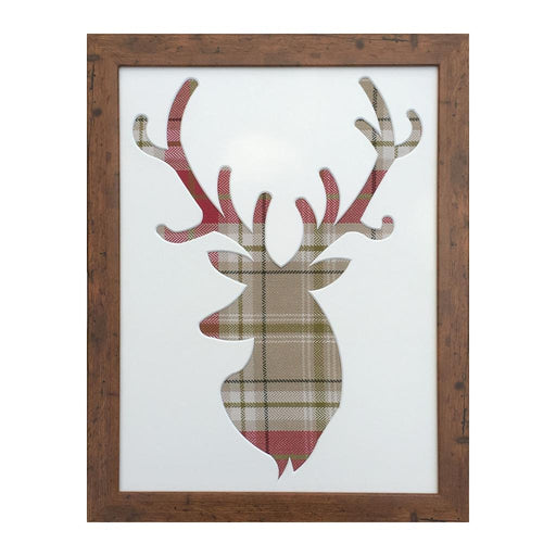Berridale Red/Green Tartan - Stag Picture Frame
