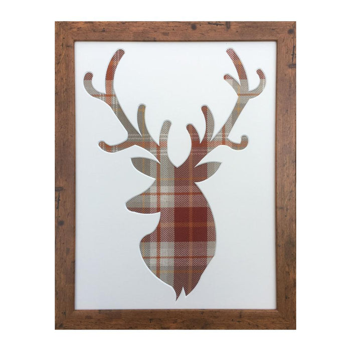 Berridale Terracotta Tartan - Stag Picture Frame
