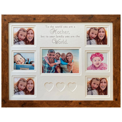 To The World You Are A Mother Picture Frame 16 x 12 Rustic