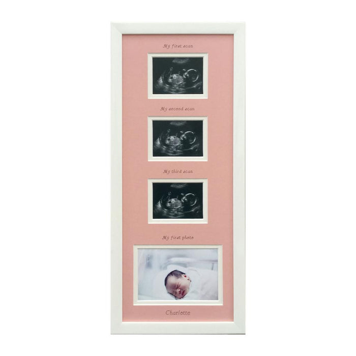 Pink Baby Girl Triple Scan Frame