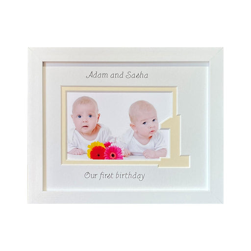 Brother and Sister Twin 1st Birthday Photo Frame