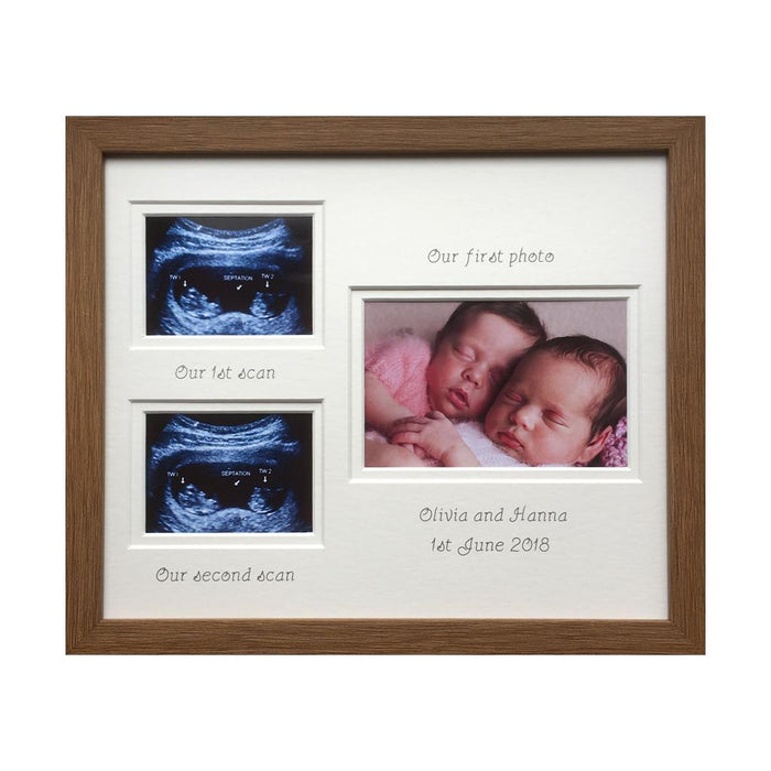 Brothers sisters Twin Double Scan Photo Frame