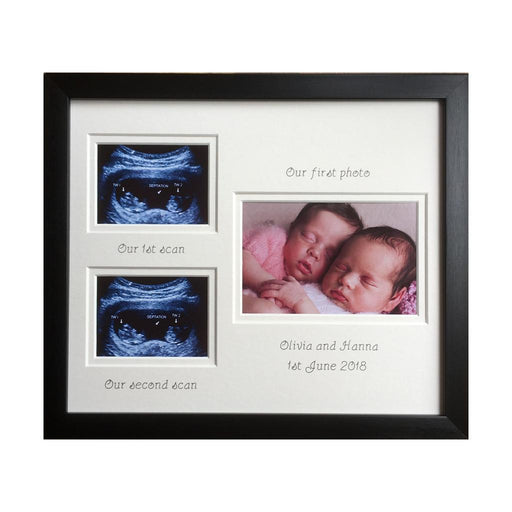 Twin Double Scan Picture Frame - Black