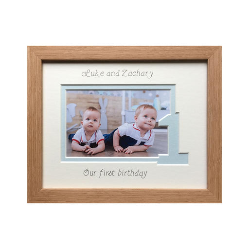 Twin Brothers 1st Birthday Photo Frame