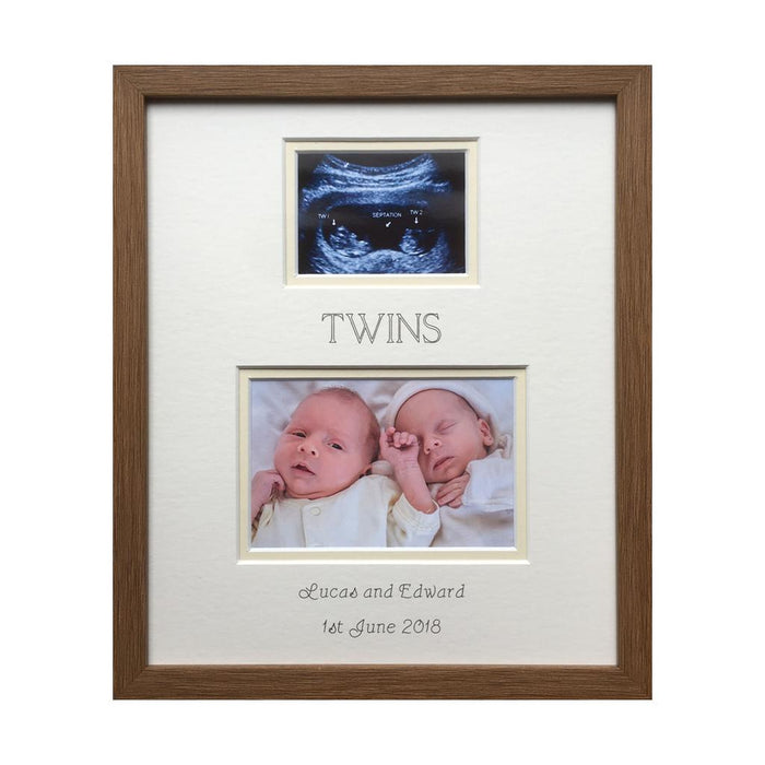 Twin Scan Photo Frame Cream Background