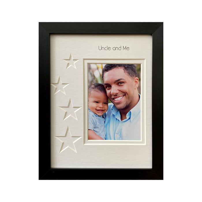 Uncle and Me Stars Picture Frame 9 x 7 Black