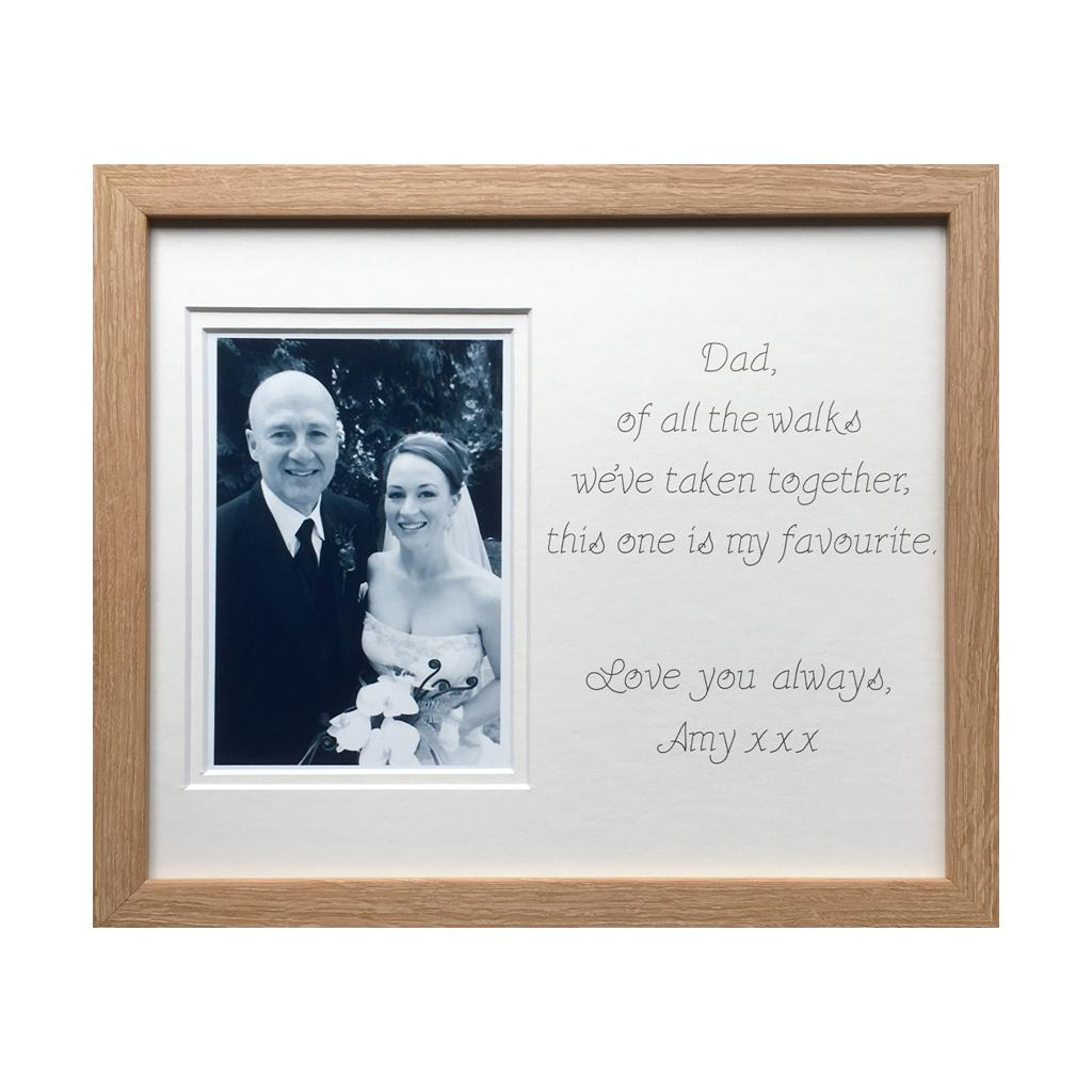 Favourite Walk Wedding Photo Frame