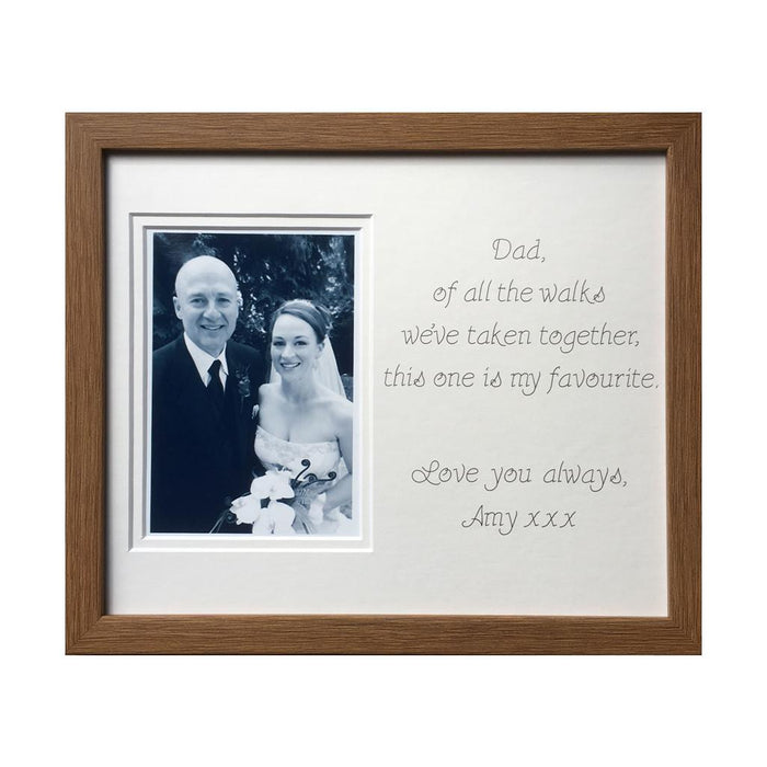 Dad's Favourite Walk Wedding Photo Frame