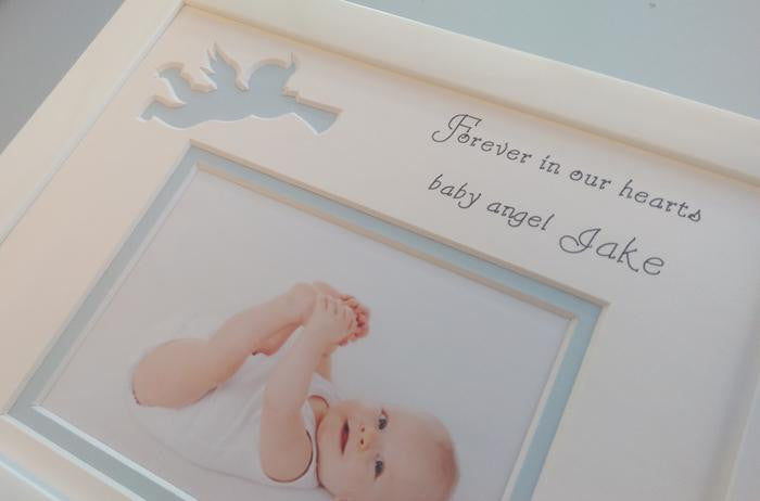 Baby remembrance personalised photo frame - Landscape