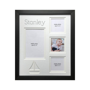 Sailboat Multi Picture Personalised Frame 12 x 10 Black