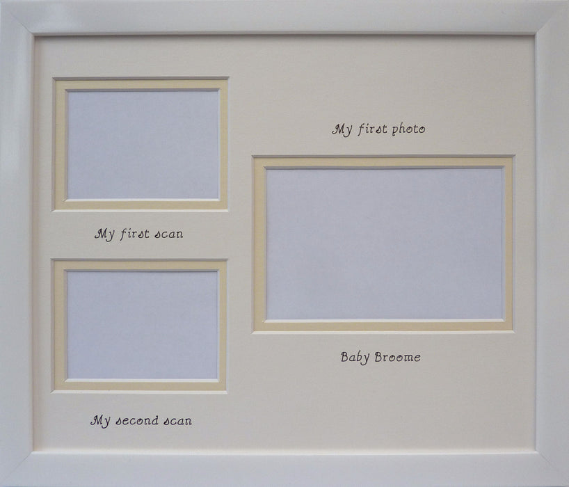 Double baby scan unisex photo frame - 'My first photo' Landscape