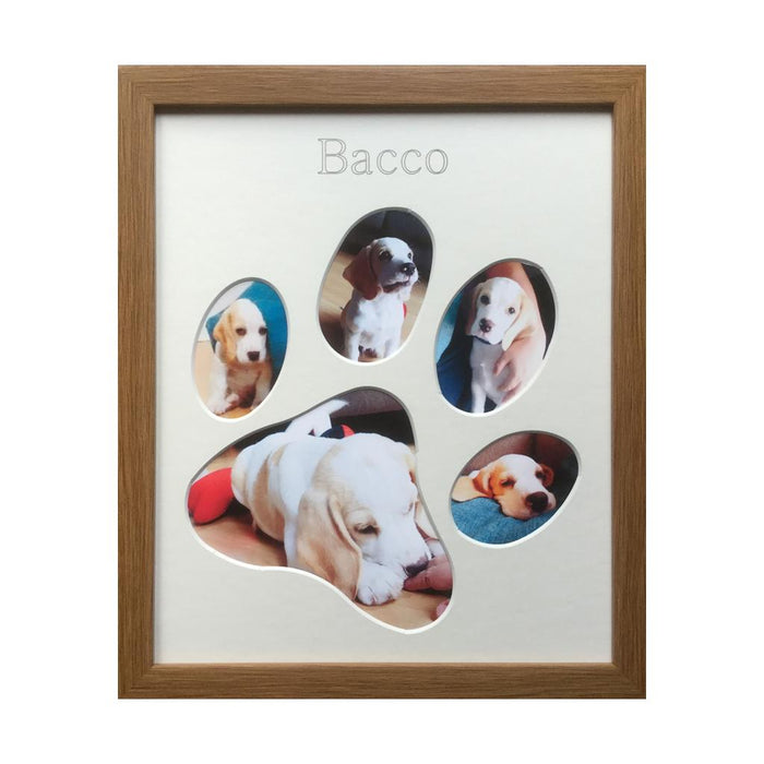 5 picture puppy paw frame