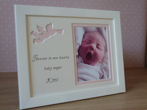 Baby remembrance personalised photo frame - portrait