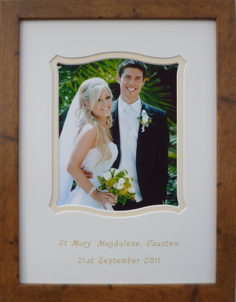 Ronda wedding photo frame - Rustic 16 x 12