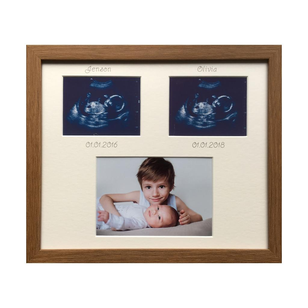 Siblings Picture Frame Oak