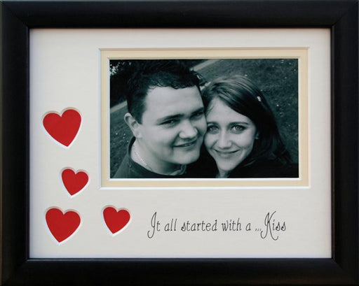 Its all started with a kiss photo frame 9 x 7 black