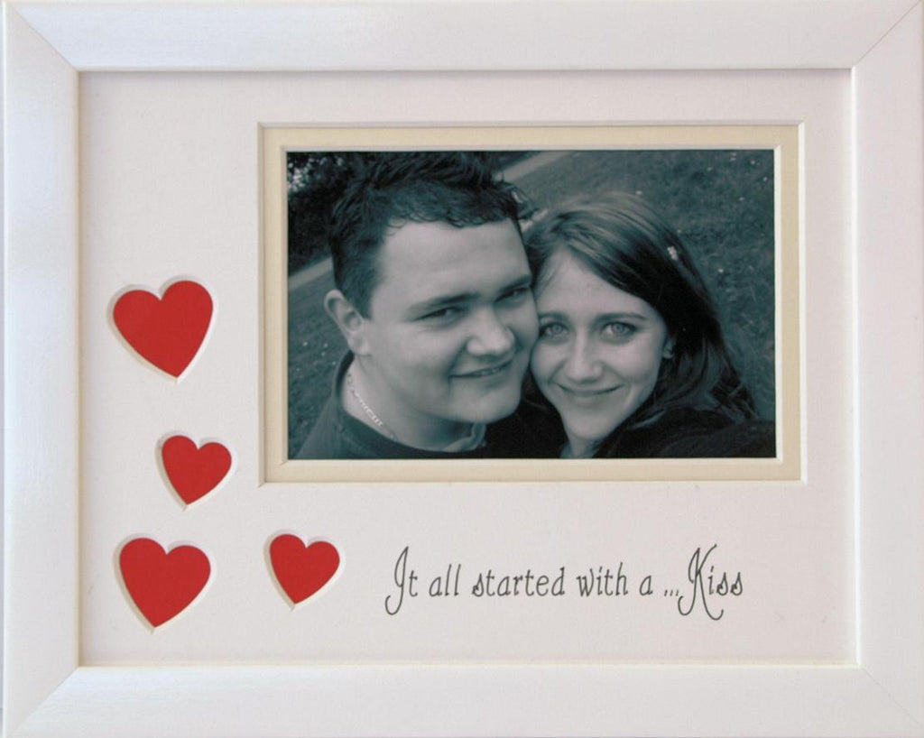 Its all started with a kiss photo frame 9 x 7 white