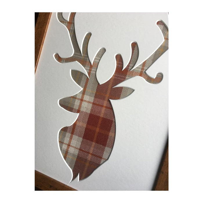 Berridale Terracotta Fabric - Stag