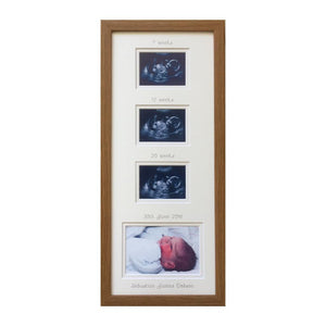 Trimester Picture frame - Everest dark Oak 20 x 8