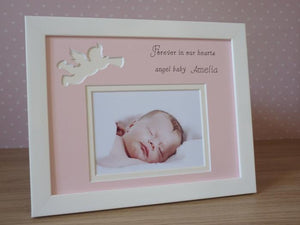 Baby girl memorial photo frame 9 x 7