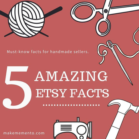 5 Amazing Etsy Facts l Selling on Etsy l Handmade Sellers l Make Memento