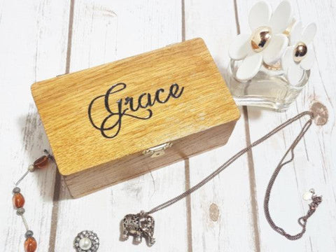 Engraved personalised jewellery box I Romantic handmade gift ideas