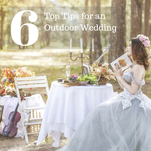 6 Top Tips for an Outdoor Wedding l Make Memento