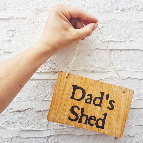 Dad's Shed Sign I 5 Awesome Father's Day Gift Ideas I Make Memento