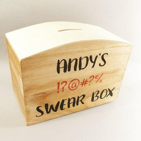 Personalised Swear Box I 5 Awesome Father's Day Gift Ideas I Make Memento